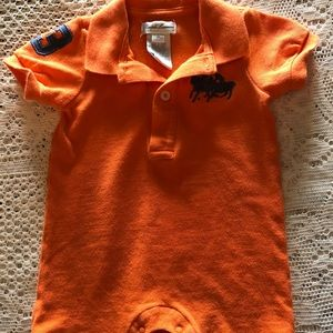 Polo by Ralph Lauren One Pieces - Ralph Lauren Polo 3m rugby style romper EUC orange